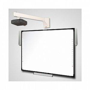 Интерактивный Комплект Q82+acc/IN124STa/WTH140 - доска IQBoard DVT TQ082 + активный лоток + акустика + проектор Infocus IN124STa + крепление для проектора Wize WTH-140