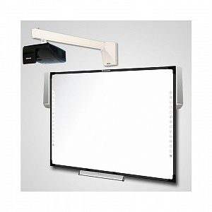 Интерактивный Комплект Q82+acc/IN134UST/WTH140 - доска IQBoard DVT TQ082 + активный лоток + акустика + проектор Infocus IN134UST + крепление для проектора Wize WTH-140