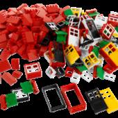 ОКНА, ДВЕРИ И ЧЕРЕПИЦА ДЛЯ КРЫШИ. LEGO