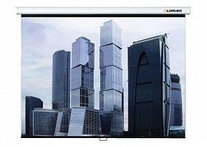 LEP-100101 Настенный экран Lumien Eco Picture 150х150 см Matte White восьмигранный корпус, возможность потолочн./настенного крепления, уровень в комплекте 1:1 треугольная упаковка