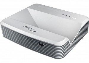 Проектор Optoma EH320UST 95.72901GCOE FULL 3D, DLP,1080p1920*1080,4000 ANSI Lm, 20000:1,TR 0,25:1;Ультракороткофокусный,HDMI x2,15-pin D-sub x2,композит,аудиовход- Jack x2,USB B;VGA OUT, Audio OUT- MiniJack;Trigger +12V;3D Sync,RS232,RJ45;16W;28/