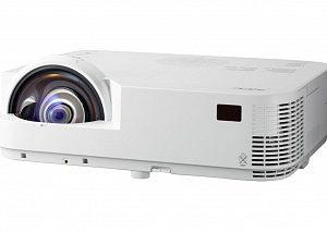 Проектор NEC M333XS M333XSG, Full 3D, DLP, 3300 ANSI Lm, XGA, короткофокусный 0.56:1, 10000:1, 2xHDMI v.1.4, USB Viewer jpeg, RJ45, RS232, 8000 ч. лампа ECO mode, 1x20W, 3,7 кг.
